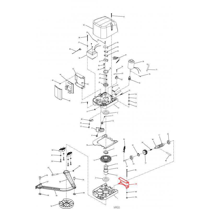 BFT SUPPORT MURAL POUR VIRGO (pour 2 moteurs) - BFT