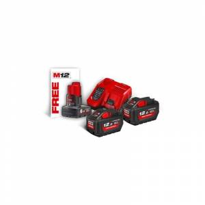 MILWAUKEE Kit 2 batteries + chargeur M18HNRG-122 NRG MILWAUKEE - 4933464261 - Publicité