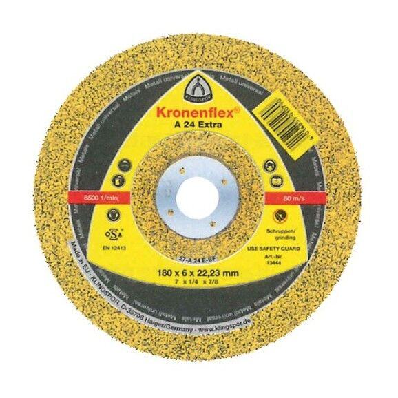 Klingspor - 10 meules/disques à ébarber MD EXTRA A 24 D. 230 x 6 x 22,23 mm