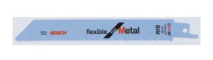 BOSCH Lame de scie sabre pour métal, coupe droite fine, Réf. Bosch : S 922 BF,