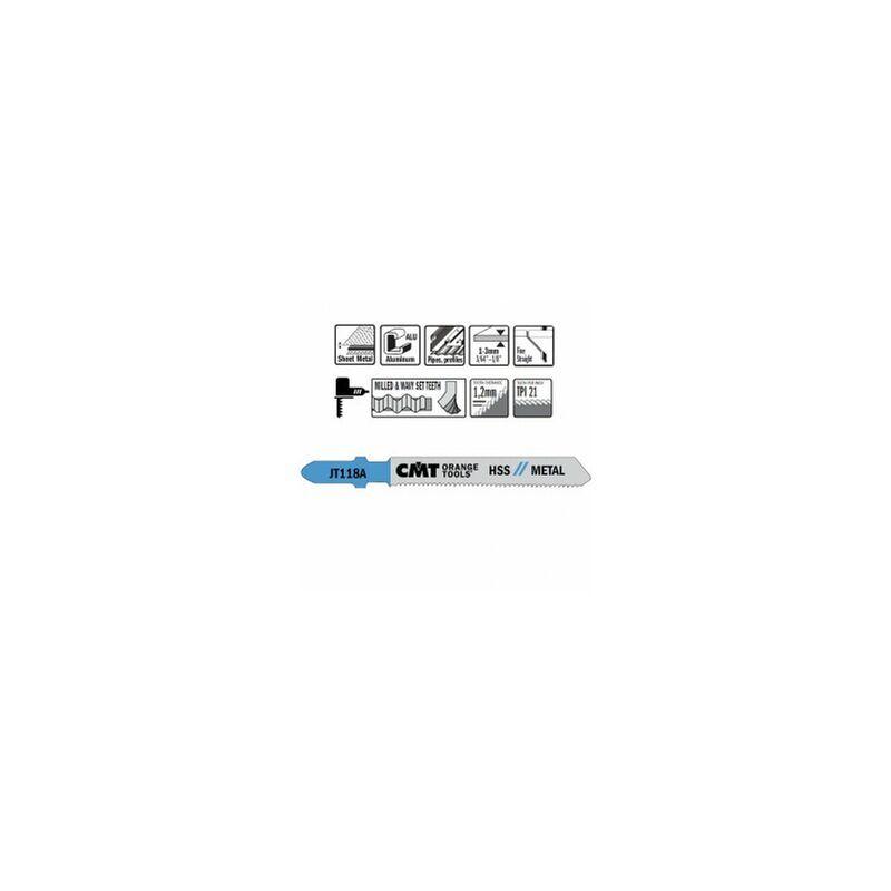 CMT : 5 x lame sauteuse coupe droite tole fine - CMT