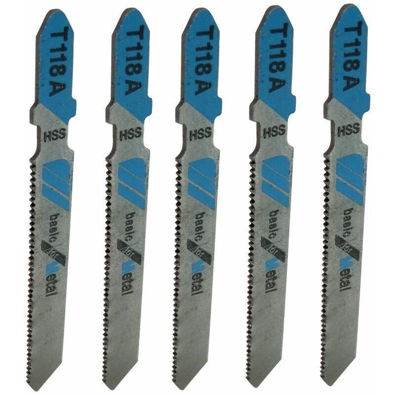 AERZETIX 5 Lames scie sauteuse haute qualité HSS pour métaux