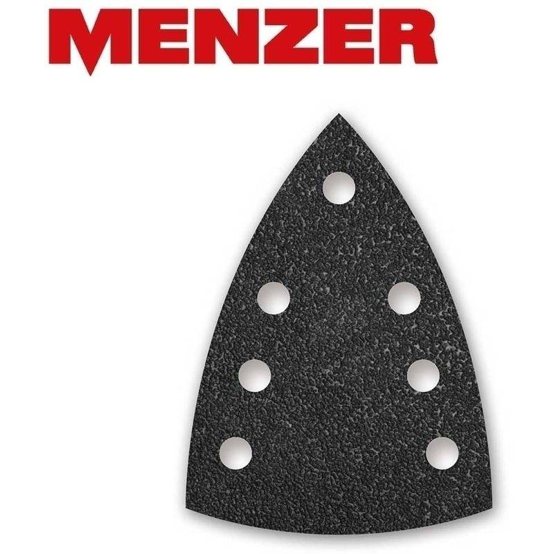 MENZER 50 feuilles abrasives auto-agrippantes MENZER p. ponceuses delta, 150 x 100 mm