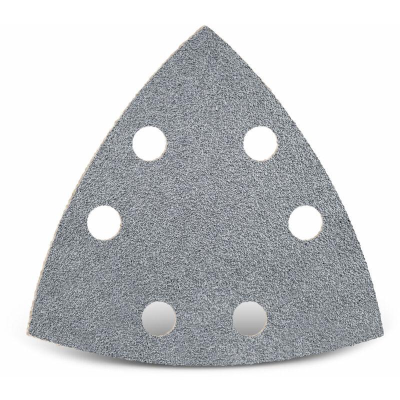 MENZER 50 feuilles abrasives auto-agrippantes p. ponceuses delta, 93 mm / 6 trous /