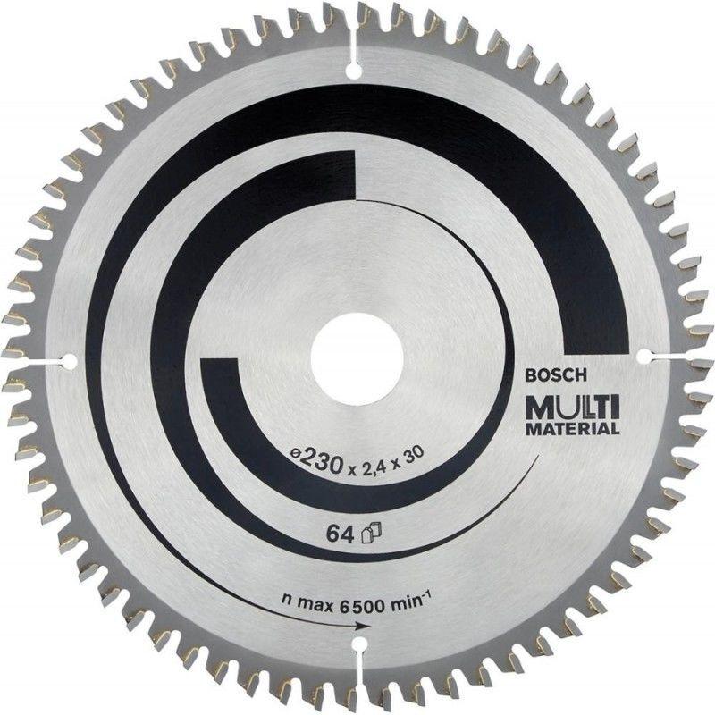 HAZET Bosch Lame de scie circulaire Multi Material, 230 x 30 x 2,4 mm, 64
