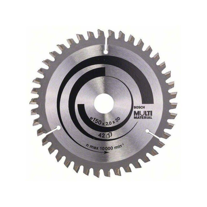 Bosch Lame de scie circulaire Multi Material, 150 x 20/16 x 2 mm, 42