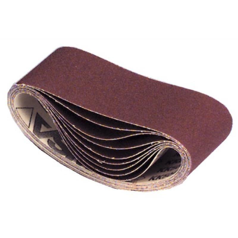 VSM - Abrasifs en bandes courtes toile 504X 110x620 mm grain 100 en boîte de 10