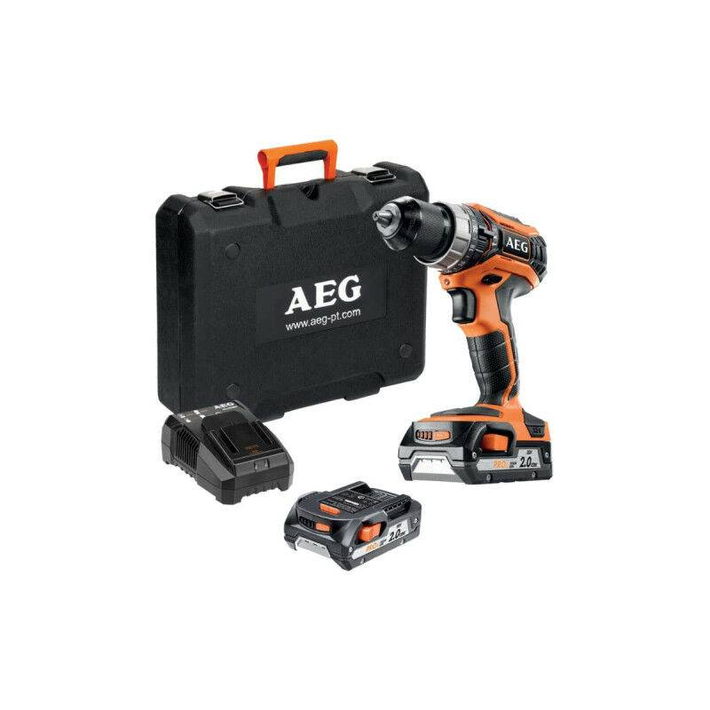 AEG Perceuse percussion AEG 18V Pro Lithium - 2 batteries 2.0Ah - 1 chargeur