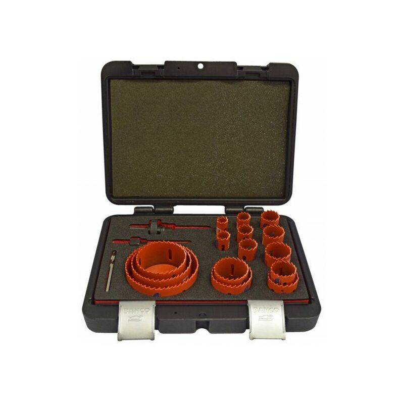 Bahco 3834-SET-153 Sandflex - Set scie cloche en coffret (18pcs) - Bi-Métal