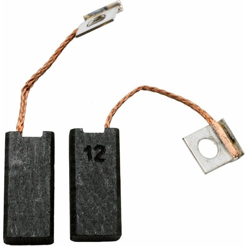 BOSCH Balais de Charbon pour Bosch GSA 900 PE - 6,3x10x21,5mm - Remplace 1.607.014.126