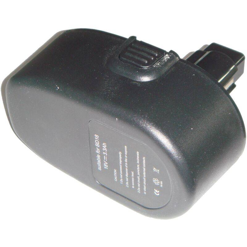 Vhbw - Batterie 3300mAh pour outil Black & Decker CD180GK2, CD180K2, CD18C,