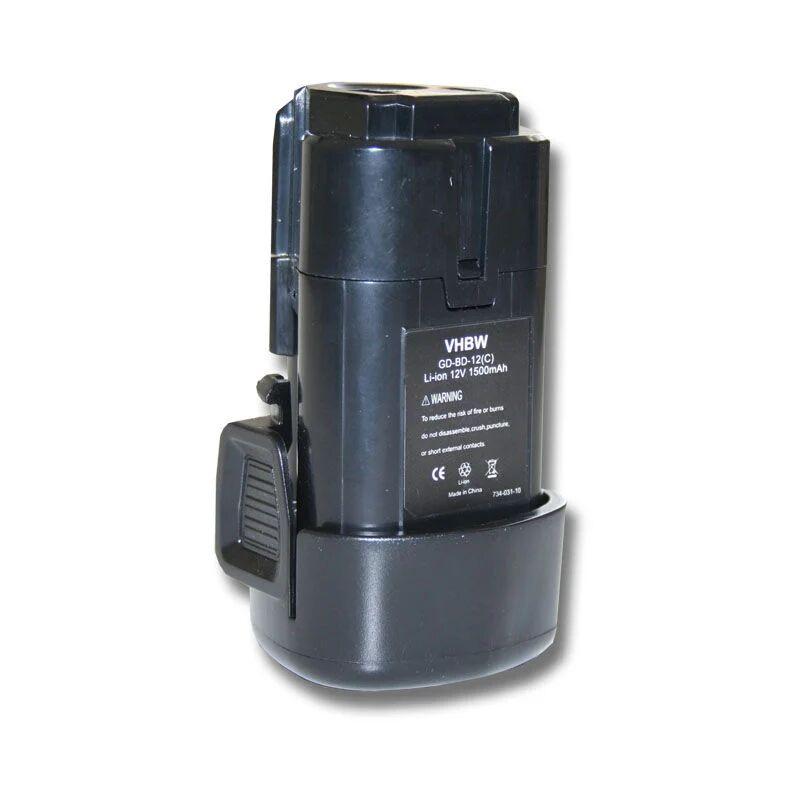 VHBW Batterie 1500mAh pour Black & Decker BDCDMT112, EGBL108, GKC108, LDX112, PSL12