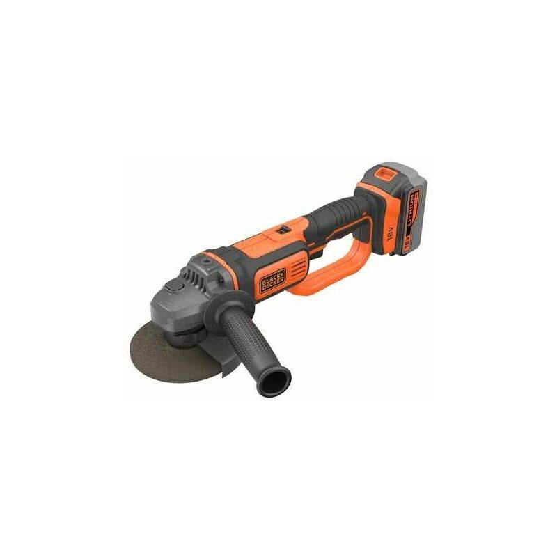 Black & Decker 18V Meuleuse d'angle, 125mm, 1x 4,0 Ah batterie, 400 mA chargeur