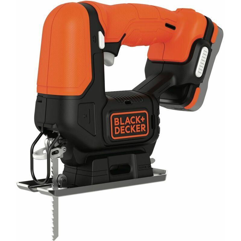 BLACK & DECKER BDCJS12S1-QW Scie sauteuse sans fil - 12 V - 1,5 Ah - 1 batterie - 1 lame pour