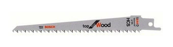 BOSCH Lame de scie sabre pour bois dur, coupe courbe fine droite et courbe, Réf.