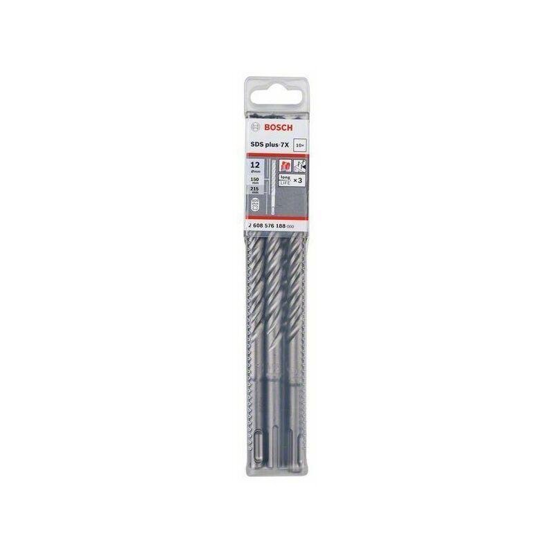 Bosch Forets SDS plus-7X pour perforateur 12 x 150 x 215 mm, 10 pièces
