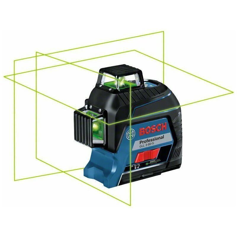 Bosch GLL 3-80 G Laser lignes avec étui et coffret- 30 - 120 m