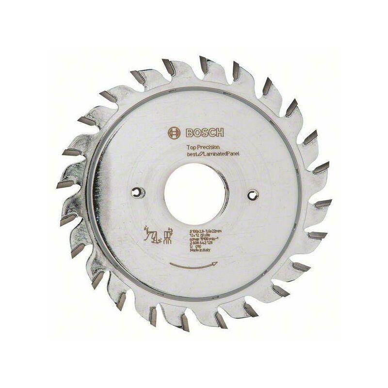 Bosch Inciseur Top Precision Laminated Panel, 100 x 22 x 2,8 - 3,6 mm