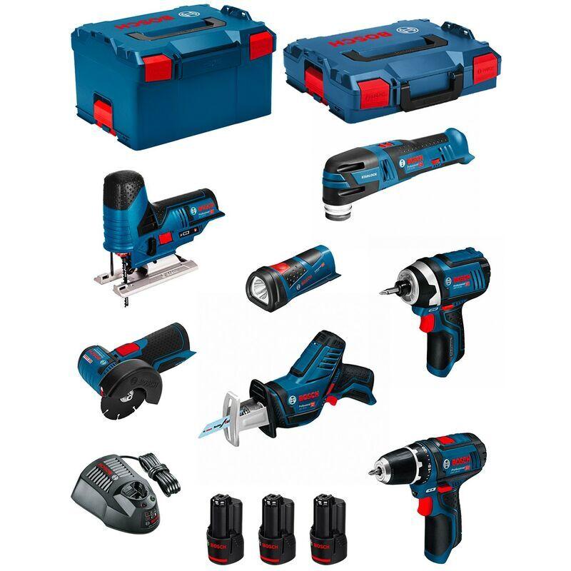 BOSCH Kit 12V BMK7-28BD3 (GSR 12V-15+GDR 12V-105+GWS 12V-76+GST 12V-70+GOP