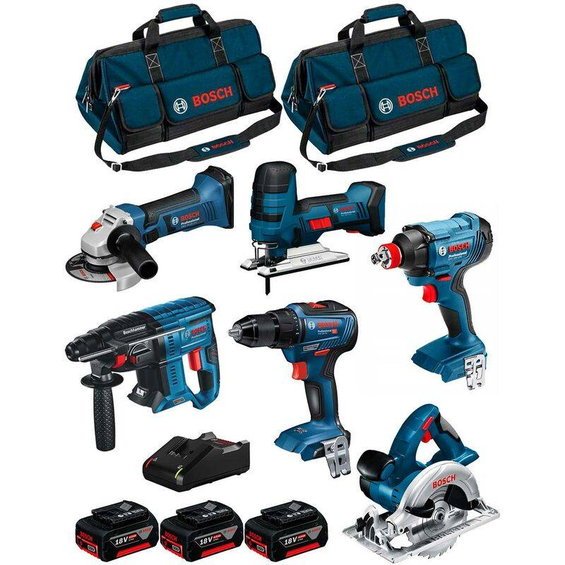 BOSCH Kit 18V BK601BAG (GDX 18V-180+GSR 18V-55+GKS 18V-LI+GST 18V-LI S+GBH