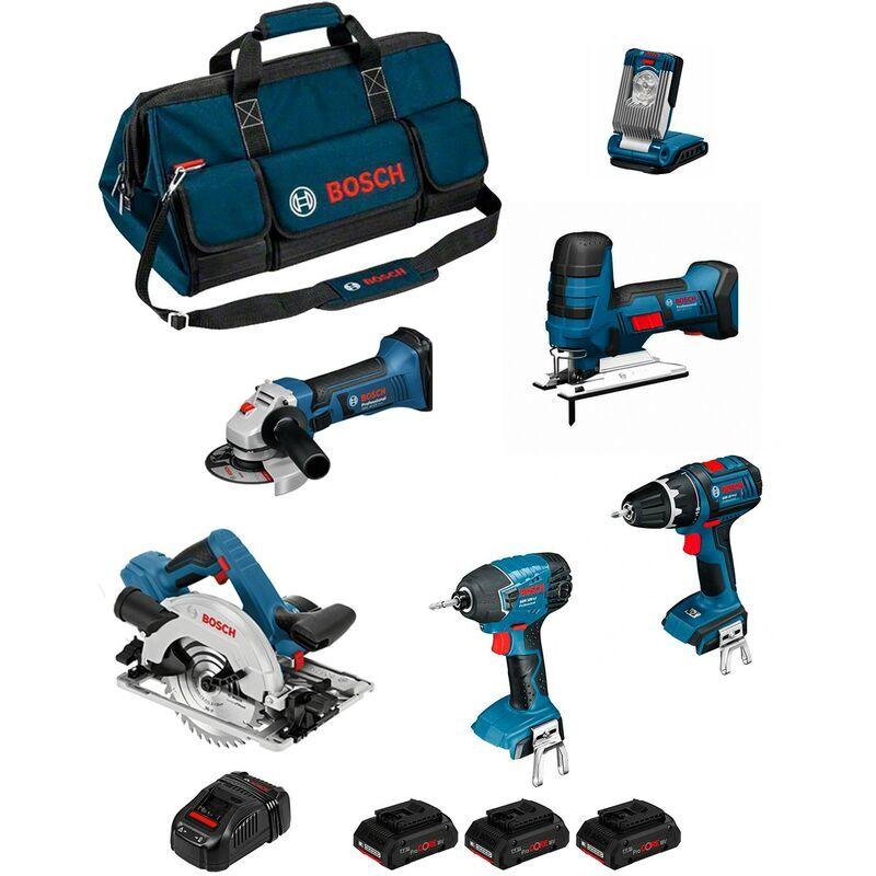 BOSCH Kit PSB6M3DP (GWS 18-125 V-LI+GSB 18 V-LI+GST 18V-LI S+GDR 18V-LI+GKS