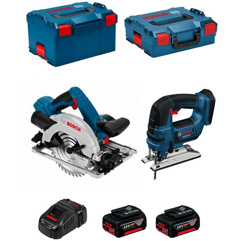 BOSCH Kit PSL2P2WC (GST 18V-LI B GKS 18V-57G 2 x 5,0Ah GAL1880CV L-Boxx 136 L-Boxx