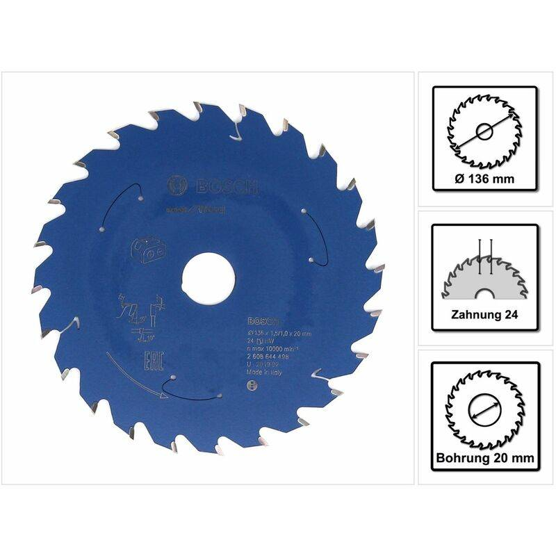 Bosch Lame de scie circulaire Expert pour bois 136 x 1,0 x 20 mm - 24 dents