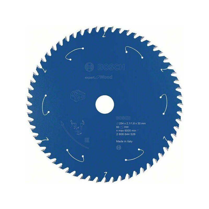 Bosch Lame de scie circulaire Expert for Wood, 254 x 2,1/1,6 x 30, 60 dents
