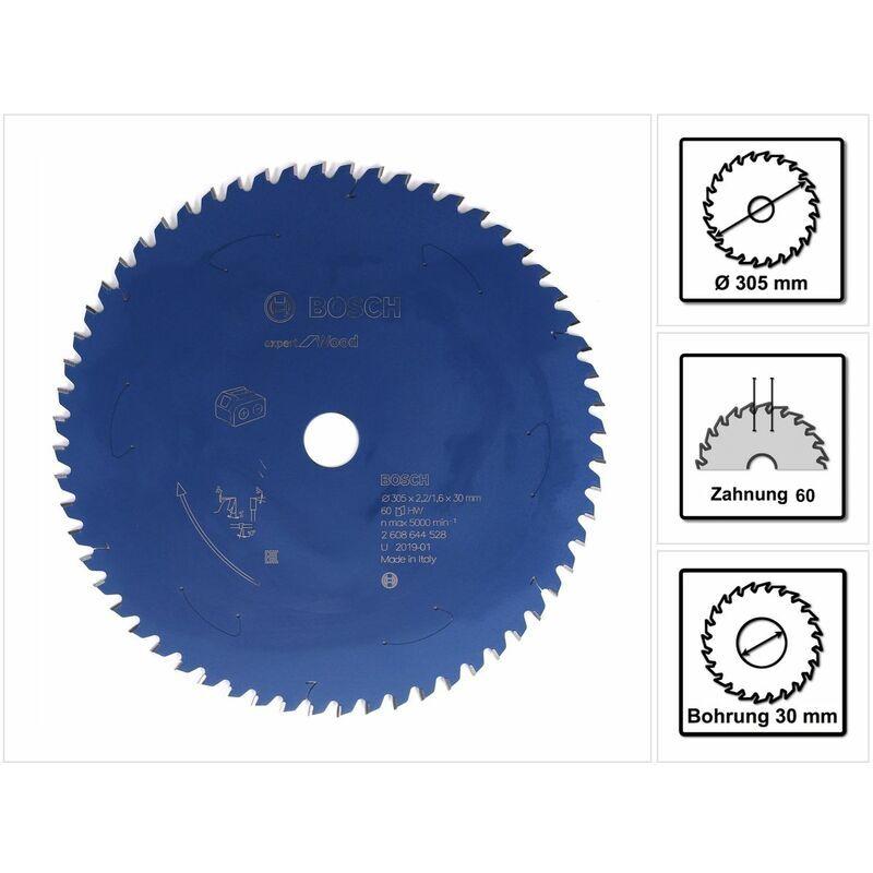 Bosch Lame se scie circulaire Expert for Wood 305 x 1,6 x 30 mm - 60 dents pour