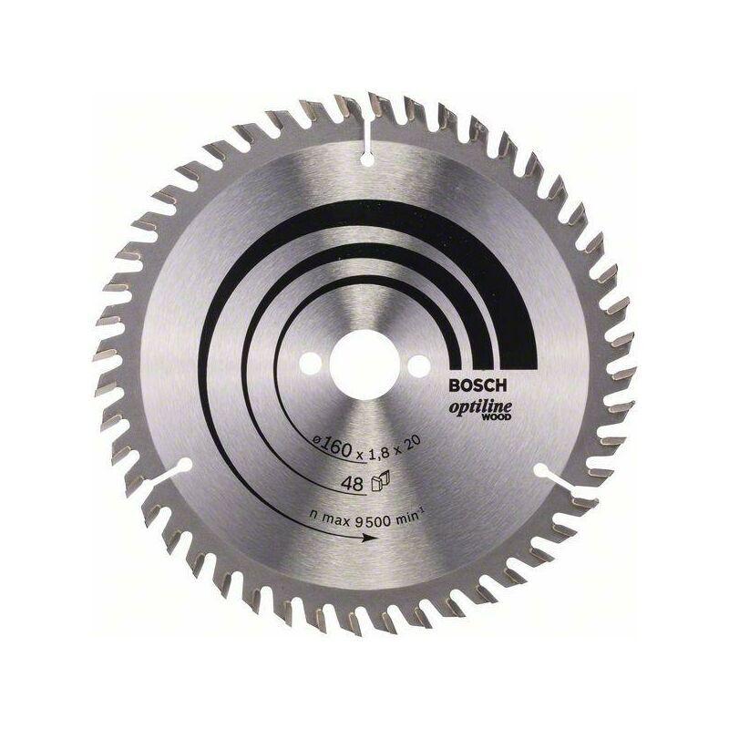 Bosch Lame de scie circulaire Optiline Wood 160 x 20/16 x 1,8 mm, 48