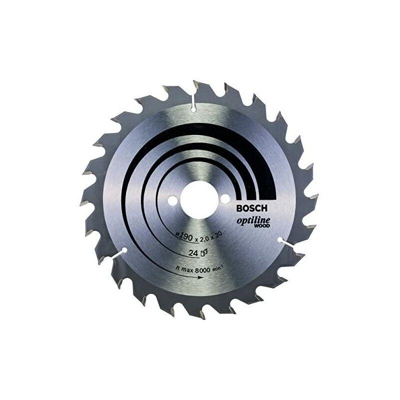 Bosch 2 608 641 185 - Lame de scie circulaire pour bois optiligne - 190 x 30 x