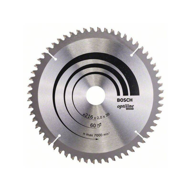 Bosch 2 608 640 433 - Lame de scie circulaire pour bois optiligne (216 x 30 x
