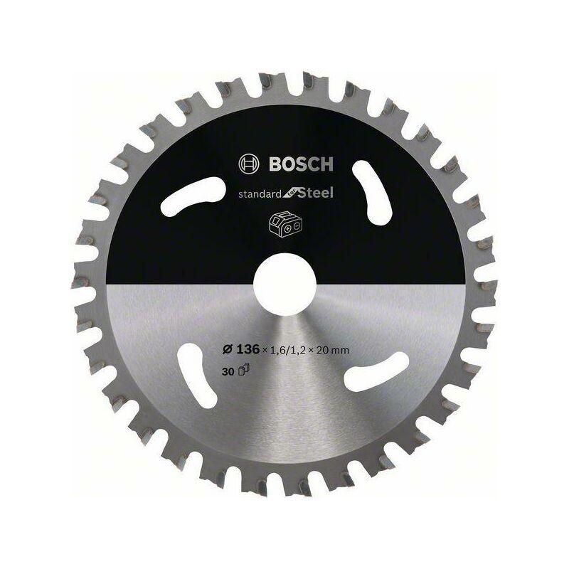 Bosch Lame de scie circulaire Standard for Steel pour scies sans fil 136 x