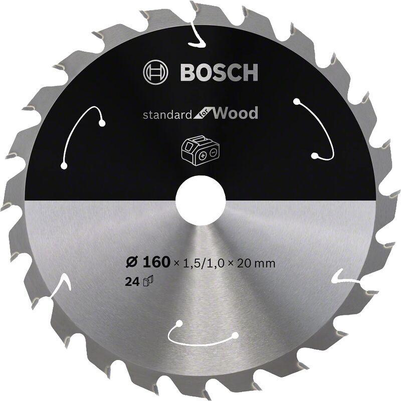 Bosch Lame de scie circulaire Standard pour bois 160 x 1,5 x 20 / 15,875 mm