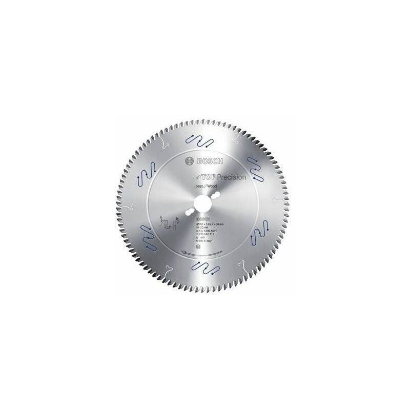 Bosch Lame de scie circulaire Top Precision Best for Wood, 500 x 30 x 4,4 mm,