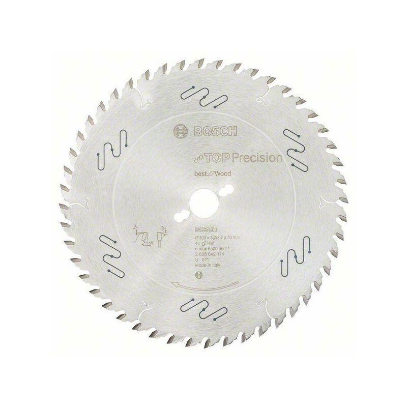 Bosch Lame de scie circulaire Top Precision Best for Wood, 300 x 30 x 3,2 mm,