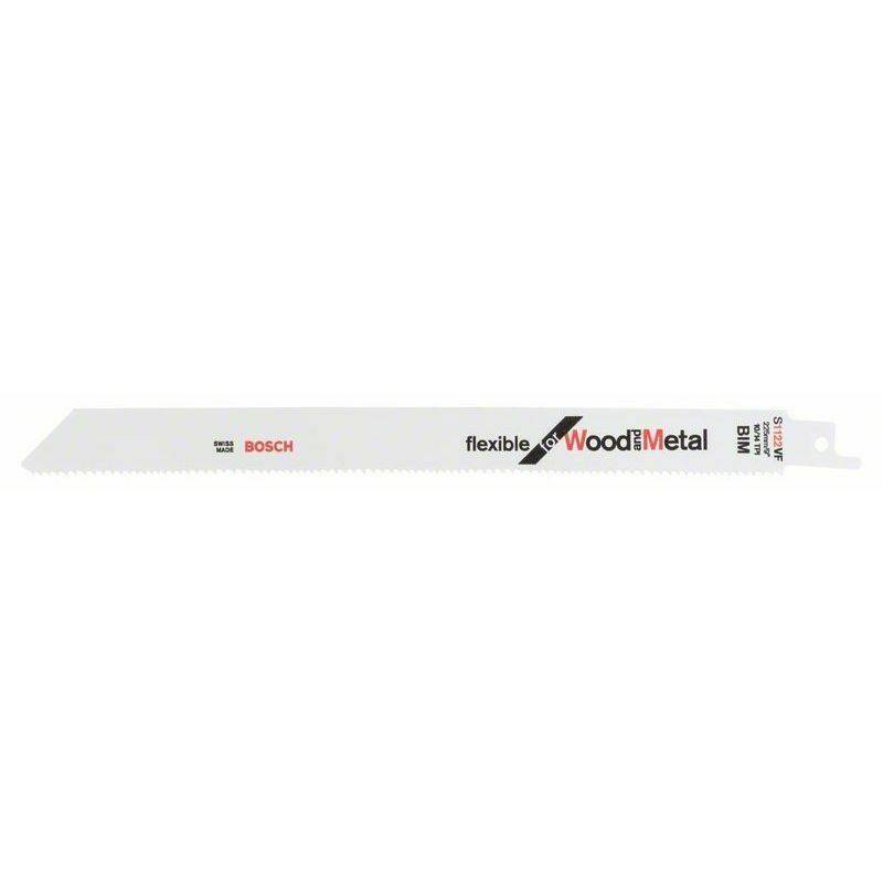 Bosch Lame de scie sabre S 1122 VF Flexible for Wood and Metal - 2608657559
