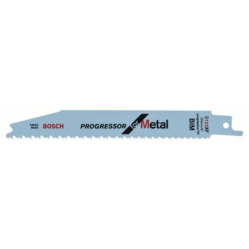 Bosch Lame de scie sabre S 123 XF Progressor for Metal - 100 unités