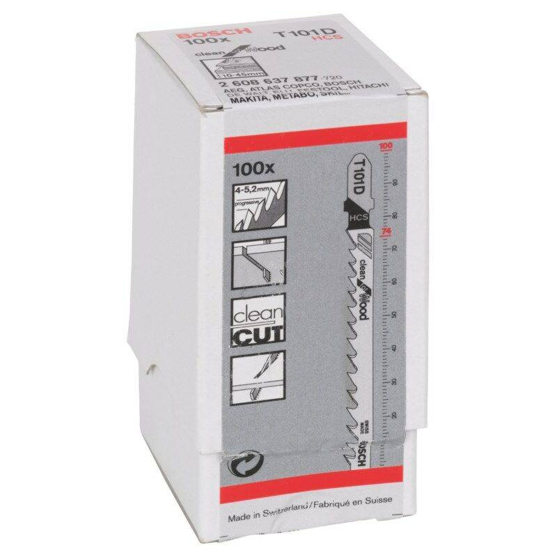 Bosch Lames de scie sauteuse T 101 D / 100 pieces