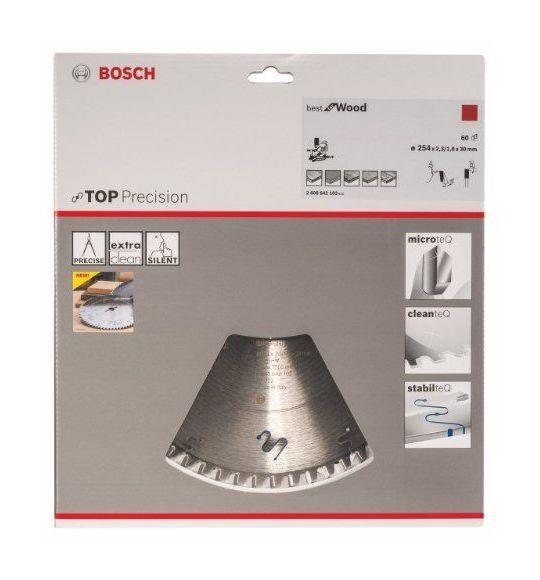 Bosch 2608642102 Z60WZ Lame de scie circulaire pour bois 254 x 30 x 2,3 mm