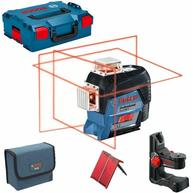 Bosch GLL 3-80 C SOLO - Niveau laser Li-Ion 12V (machine seule) dans L-Boxx