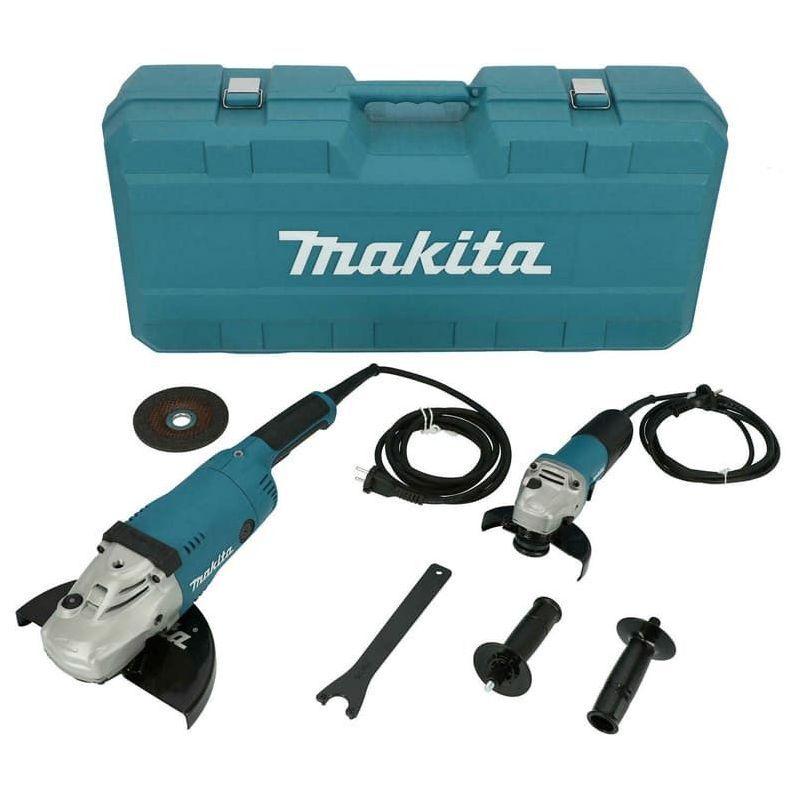 Dewalt - Makita Ensemble de meuleuse d'angle 230 mm (2200W) / 125 mm (840W)