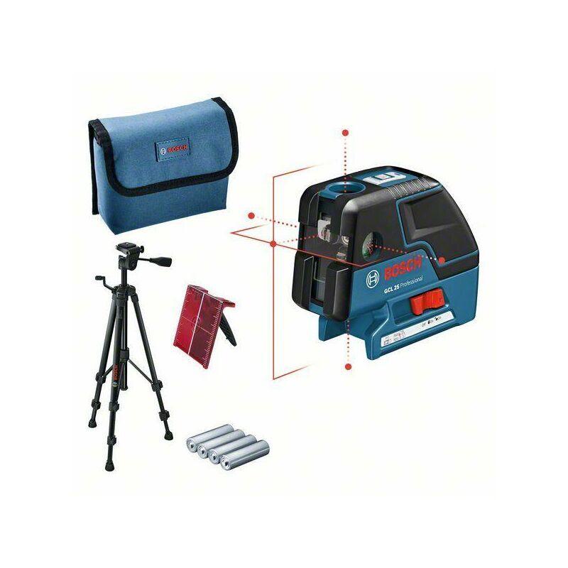 BOSCH Laser combiné GCL25 Professional + Trépied BT 150 1/4 BOSCH 0601066B01