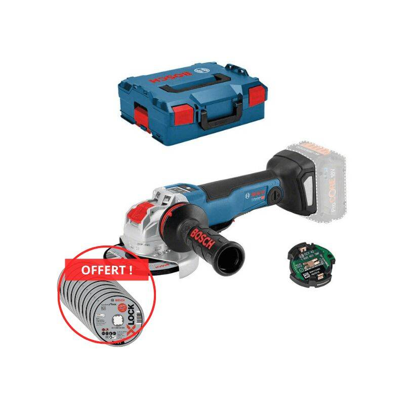 Bosch Professional Meuleuse angulaire sans fil GWX 18V-10 PSC, L-BOXX (sans