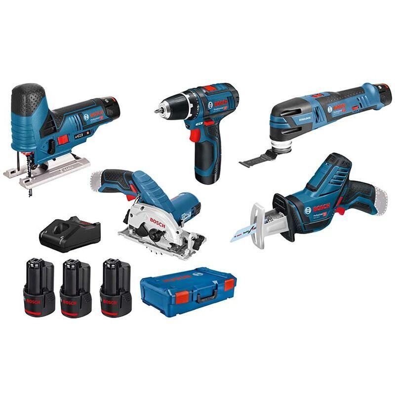Bosch Professional 12V System perceuse visseuse GSR 12V 15+scie sauteuse GST12V