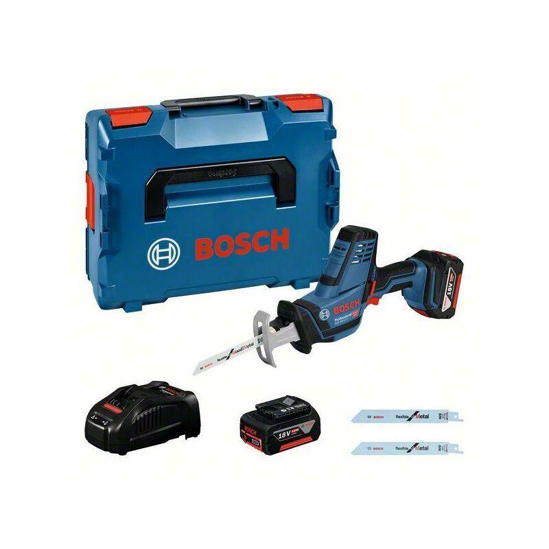 Bosch Professional Scie sabre sans fil GSA 18 V-LI C, 2 x batteries GBA 18V