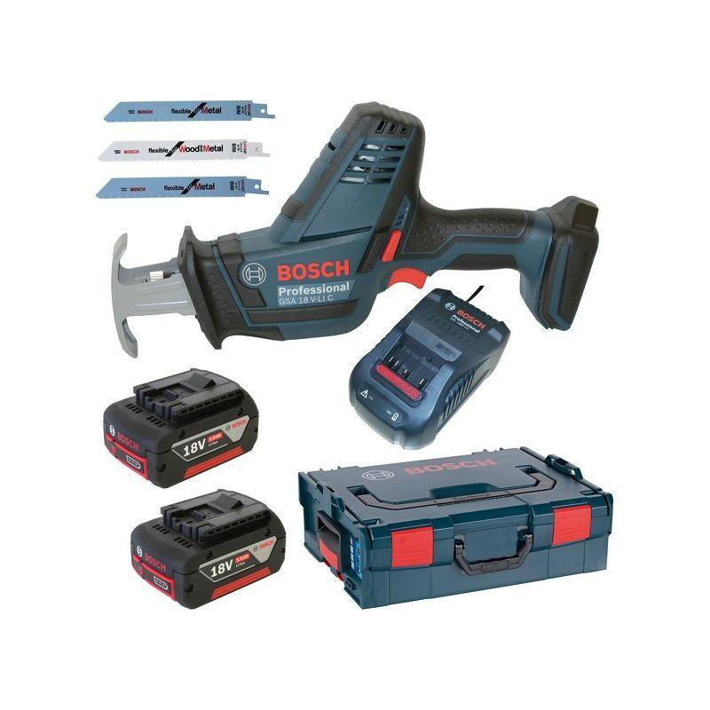 Bosch GSA 18 V-LI C Scie sabre à batteries 18V Li-Ion set (2x batterie 5,0Ah)