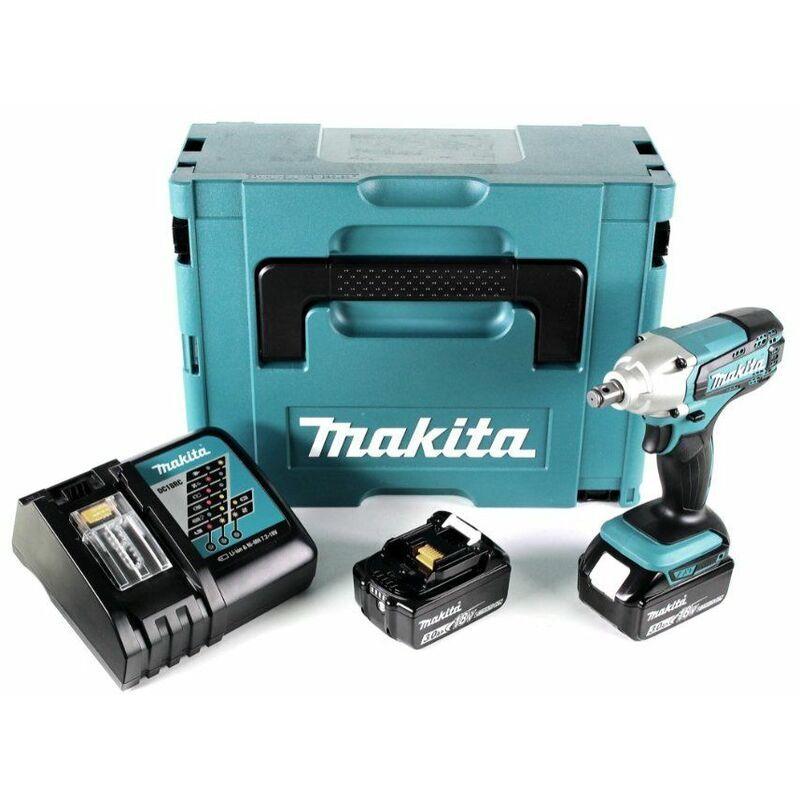 Makita DTW190RTJ - Set clé à choc Li-Ion 18V (2x batterie 5.0Ah) dans MAKPAC