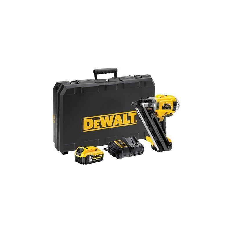 DEWALT DCN692P2-QW. Cloueur de charpente XR Dewalt 18V 5Ah Li-Ion Brushless avec 2