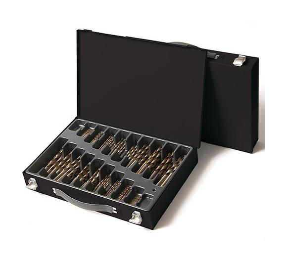 LABOR Coffret 170 pcs de forets métaux DIN 338 HSS M35 5% Cobalt D. 1 à 10 mm